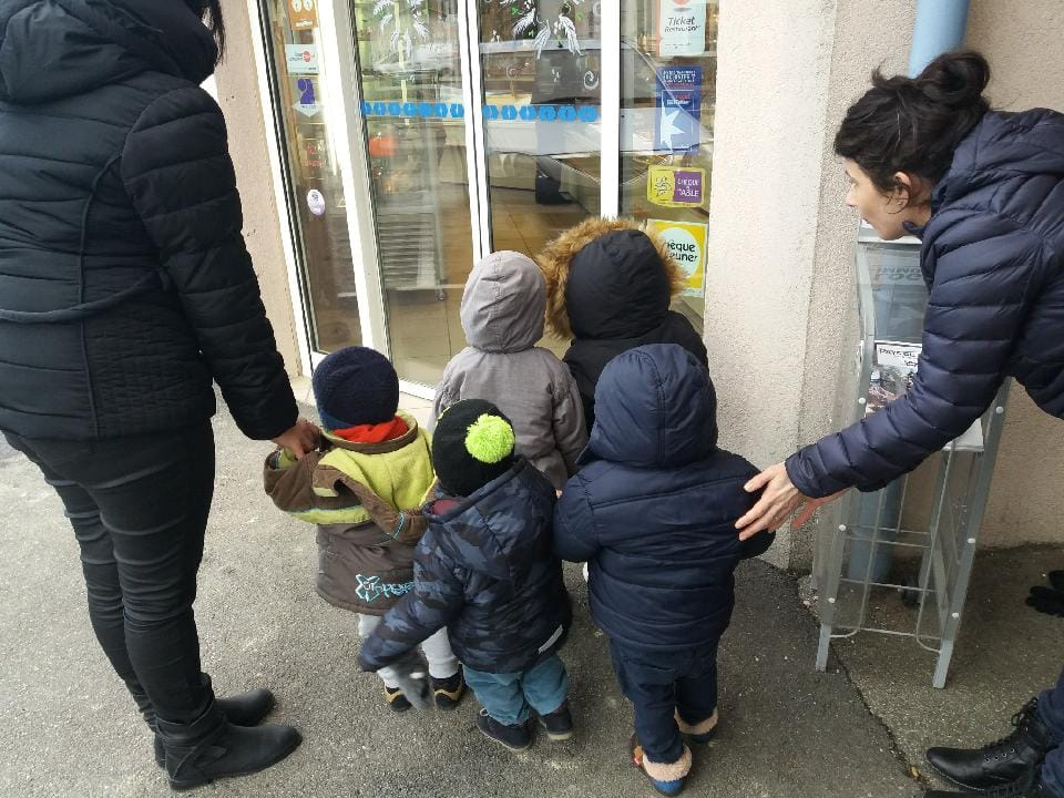 Visite de la boulangerie par les enfants de la crèche