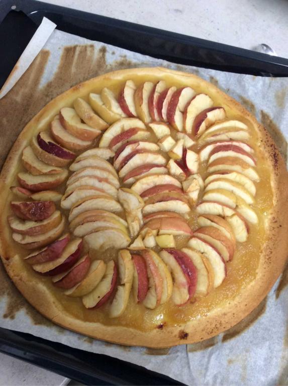 Tarte aux pommes réalisée par les enfants
