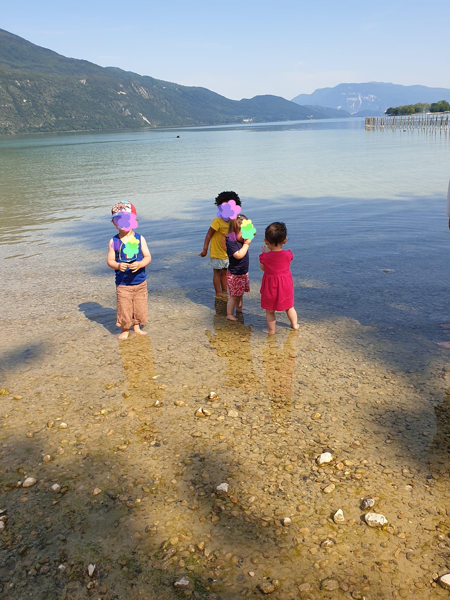 Petite baignade au lac d'Aix les Bains