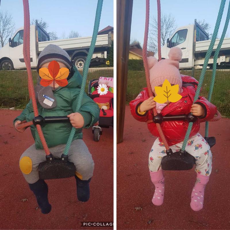 Balançoire lors d'une sortie au parc